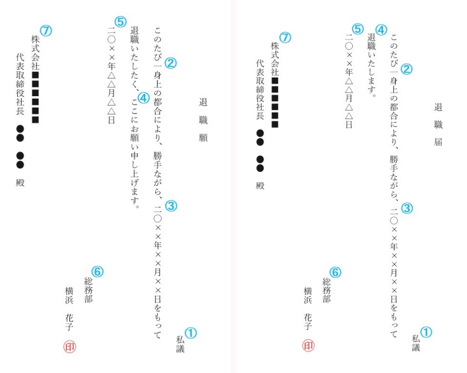 退職願・退職届 (2)